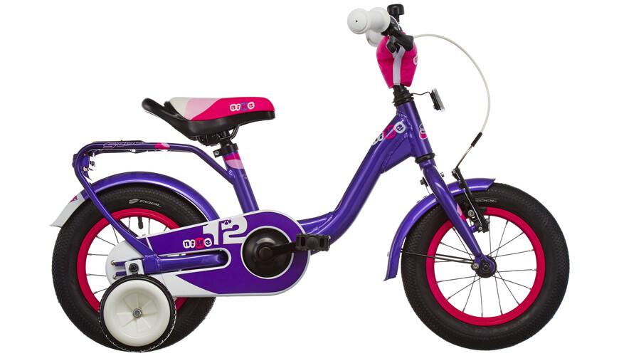 s'cool niXe 12 Rower dziecięcy  fioletowy